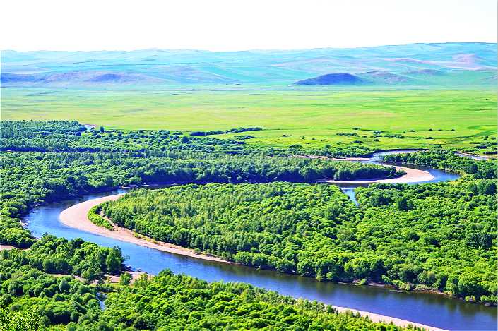 The Erguna Wetland, in the Inner Mongolia autonomous region, is seen in June 2015. Photo: VCG