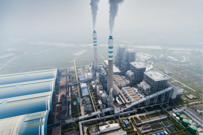A power plant discharges emissions on Dec. 1 in Taizhou, Jiangsu province. Photo: VCG