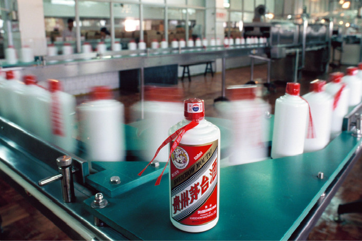 Moutai is bottled at the company's distillery in Renhuai, Guizhou province. Photo: VCG