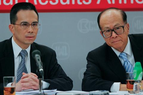 Li Ka-shing's eldest son and successor Victor Li (left). Photo: VCG