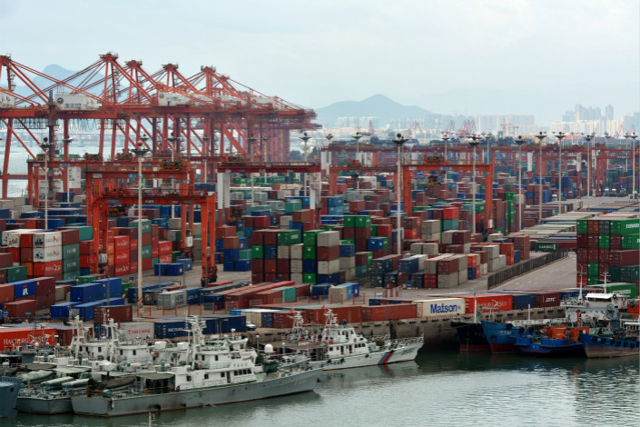 Xiamen port's container terminal. Photo: IC