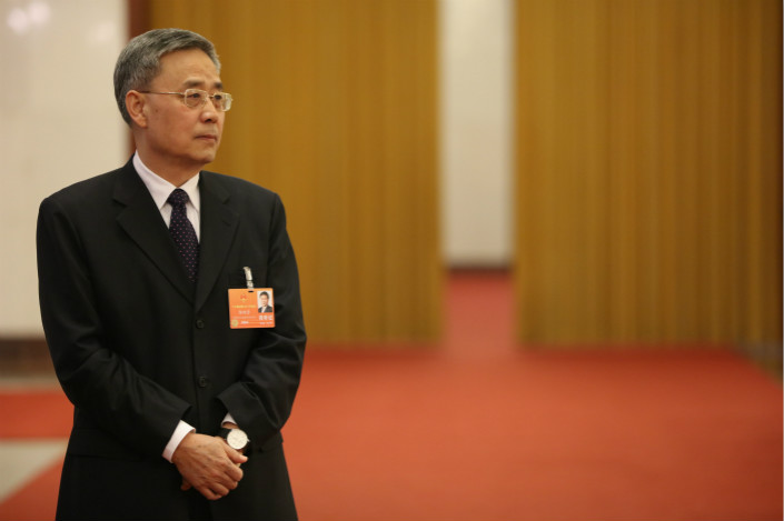 Guo Shuqing attends the second plenary session of the 13th National People's Congress at the Great Hall of the People in Beijing on March 9. Photo: VCG