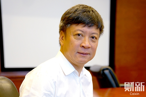 "Sun Hongbin, chairman of Sunac China, defended his original investment in Leshi, and said without losses, ""even the smartest person cannot grow."" Photo: Caixin"