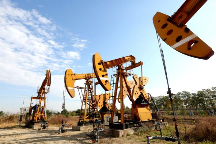 A mining company in Huaian, Jiangsu province, pumps crude oil. Photo: VCG