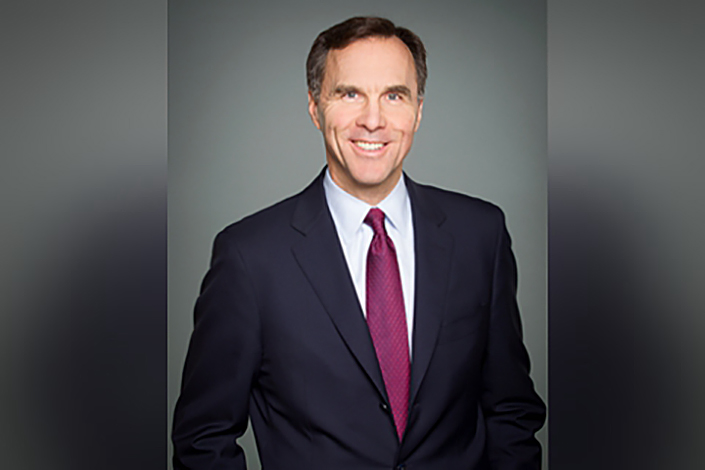 Canadian Finance Minister Bill Morneau says Canadian investors are enthusiastic about China and continue to see long-term potential there. Photo: Consulate General of Canada in Shanghai