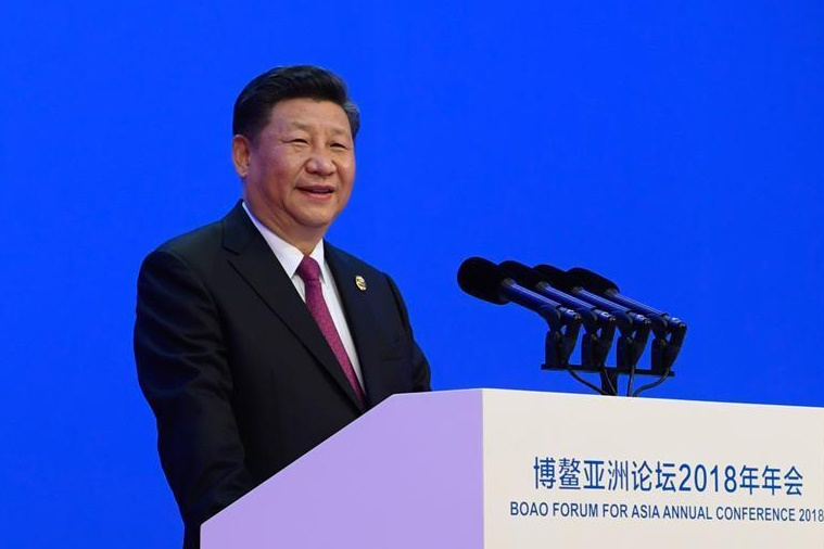 President Xi Jinping addresses the opening ceremony of the the Boao Forum for Asia Annual Conference, an economic event held in the country's southern province of Hainan. Photo: Xinhua