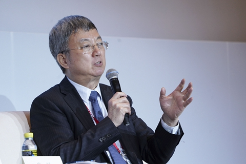 Zhu Min, former deputy managing director of the IMF, warned of U.S. stock market risks at the Boao Forum for Asia. Photo: VCG