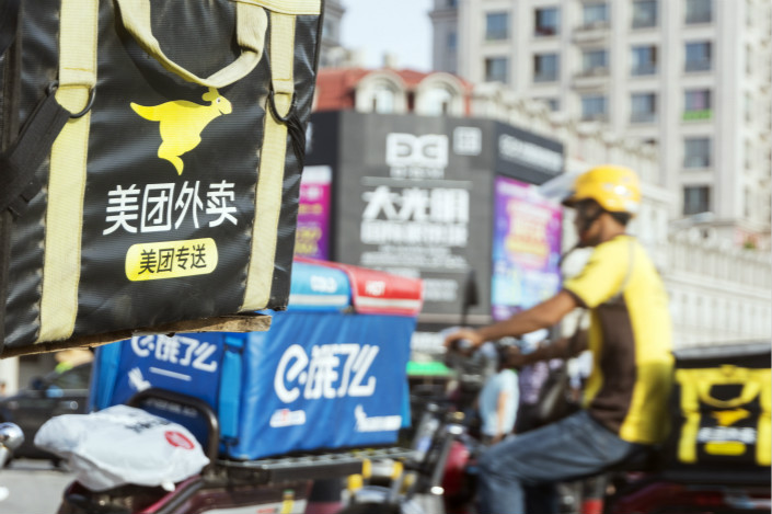 Battles are heating up in China's food delivery market. Photo: VCG