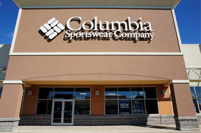 A Columbia Sportswear Co. factory-outlet mall store is seen in Kingston, Ontario, Canada. Photo: IC