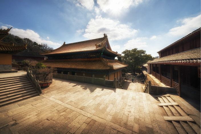 One of Mount Putuoshan's several Buddhist temples, photographed on Jan. 18. Photo: IC