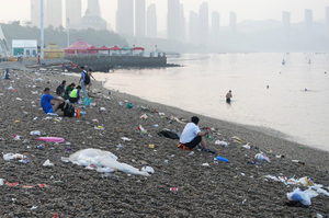 Famous Brands Litter China's Beaches