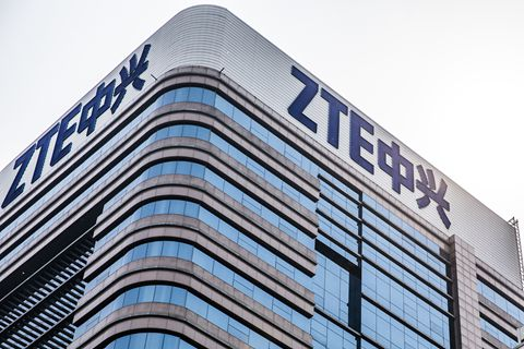 ZTE suspended its main operations after the U.S. Commerce Department banned American companies from selling to the firm for seven years. Photo: VCG