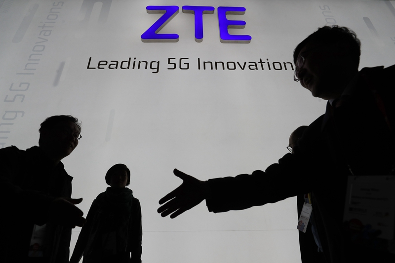 ZTE ceased major operations since the seven-year ban was imposed on the company in April. Photo: VCG