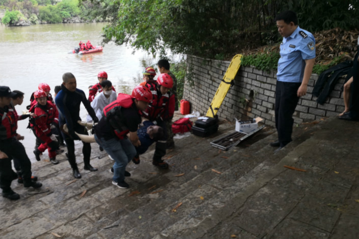 It is unclear how many rowers in total were on the two boats, but 57 fell into the water and 40 were rescued, with five now being treated at hospital, according to the official Xinhua News Agency. Photo: IC