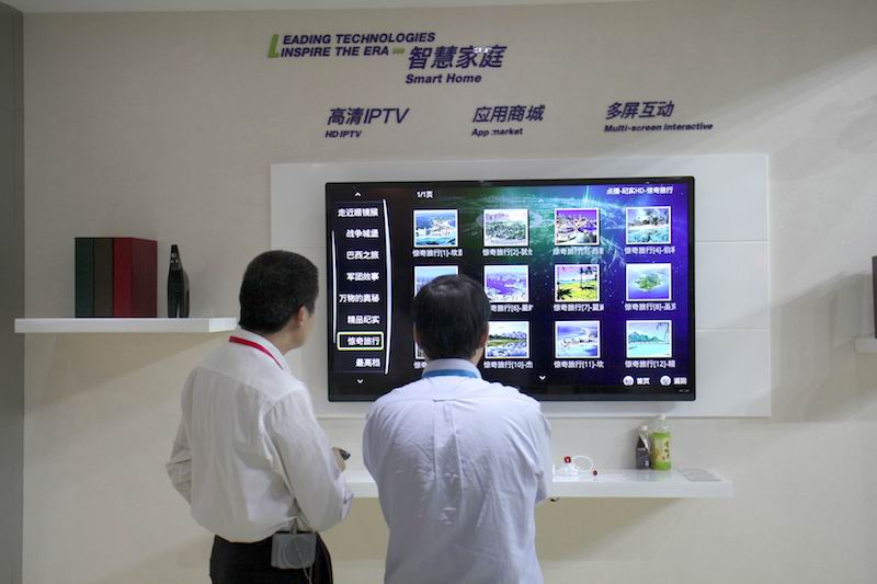 Chinese internet companies are rushing into the fledgling smart TV market to secure access to users. Photo: VCG