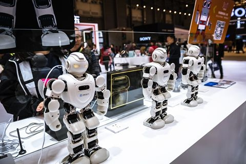 Ubtech produces consumer humanoid robots for business, entertainment and educational purposes. Photo: VCG