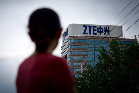 ZTE suspended its main operations after the Commerce Department banned American suppliers from selling components to it. Photo: VCG