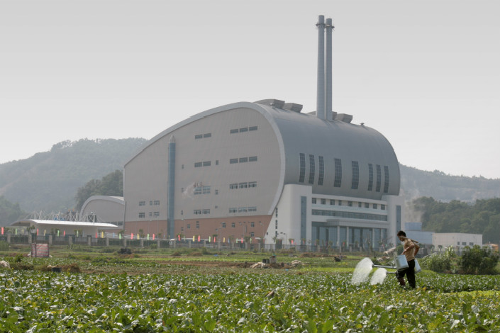 A garbage incineration and power generation facility is seen in Guangzhou, Guangdong province. Photo: VCG
