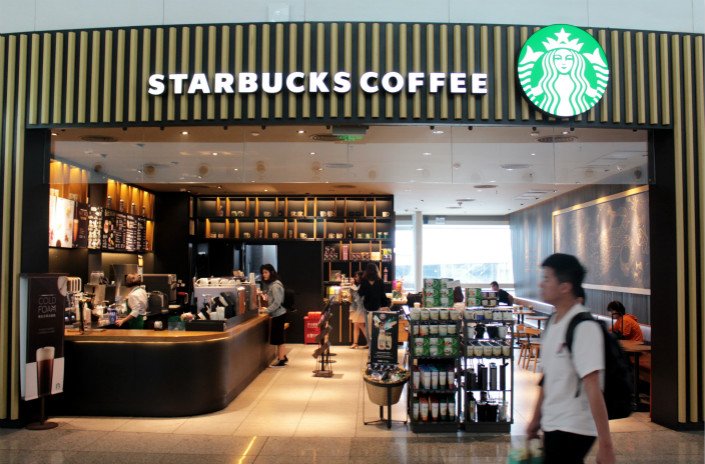 A Starbucks coffeeshop is seen in Xiamen, Fujian province, on April 19. Photo: VCG