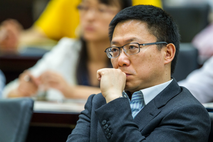 Liao Min, the former Shanghai bureau chief of the country's banking regulator, has been promoted to be deputy director of the general office of the Central Financial and Economic Affairs Commission. Photo: VCG