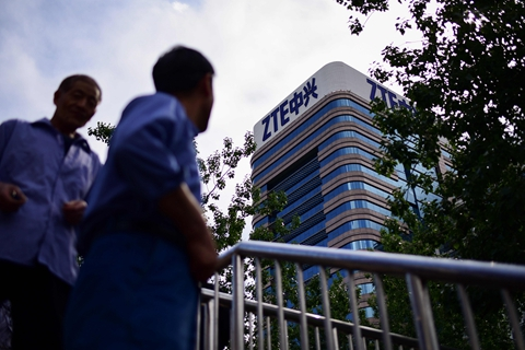 ZTE has halted main business operation in May after it was hit by a ban on doing business with American suppliers. Photo: VCG