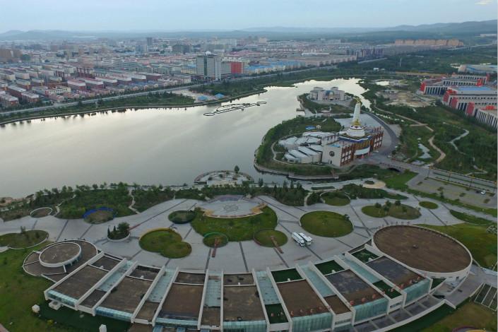 A Xilin River wetland park is seen in Xilinhot, the Inner Mongolia autonomous region, on Aug. 18. Photo: VCG