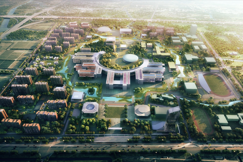 The planned main campus of Westlake University in southwest Hangzhou. Illustration: Westlake