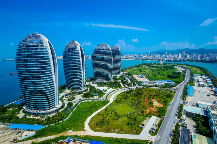The Phoenix Island resort in Sanya, Hainan province, is seen in September 2015. Photo: VCG