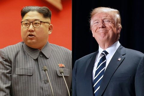 "U.S. President Donald Trump (right) wrote North Korean leader Kim Jong Un that the cancellation of the June 12 meeting of the two leaders  ""is a truly sad moment in history."" Photo: VCG"
