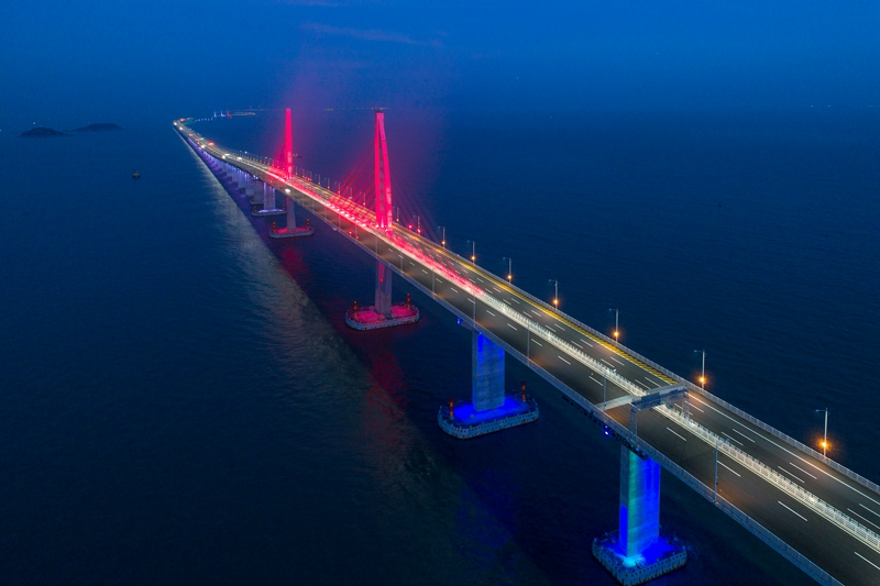 The 55-kilometer Hong Kong-Zhuhai-Macau Bridge that is set to be open this year. Photo: VCG
