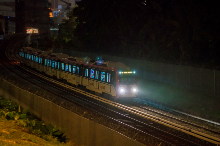A train is seen running in Kuala Lumpur, Malaysia, on Feb. 23. Photo: VCG