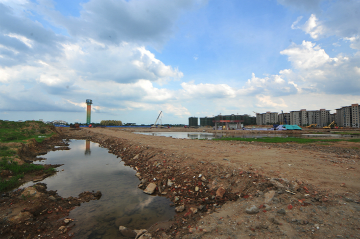 Kaiwei Ecosystem City was a proposed 115-acre racecourse in Hainan province, but it remains unfinished, more than a quarter-century after the project was launched. Photo: Wang Di