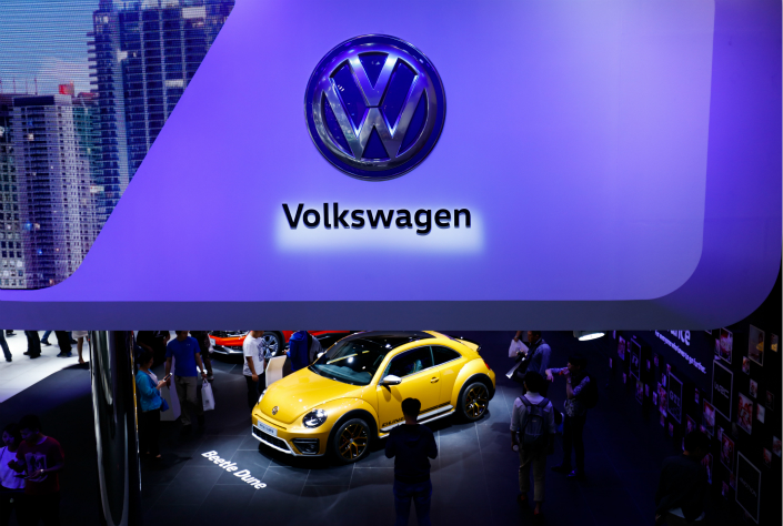 A Volkswagen Beetle Dune on display at Auto China 2016 in Beijing. Photo: IC