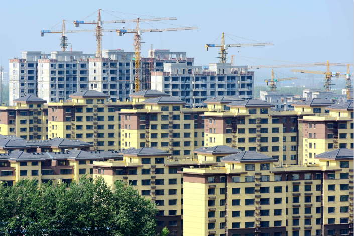 Housing units under construction are seen in Weifang, Shandong province, on May 23. Photo: VCG