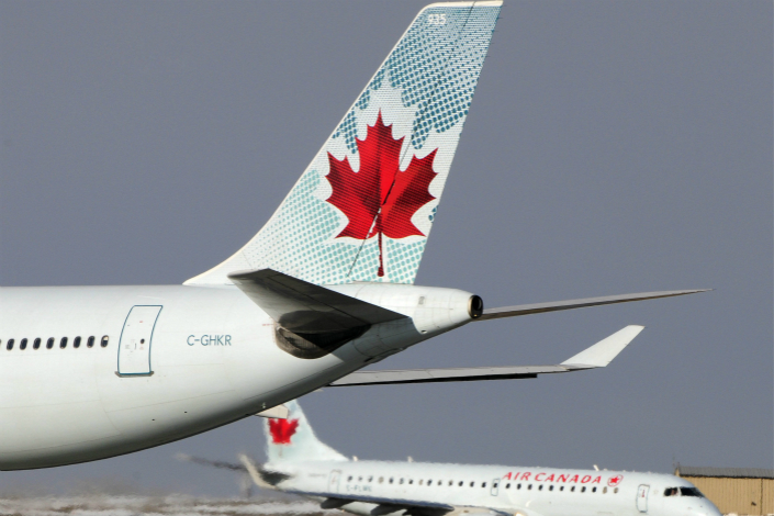 An Air Canada Airbus A330 takes off from an airport in Calgary, Canada, in April 2011. Photo: IC