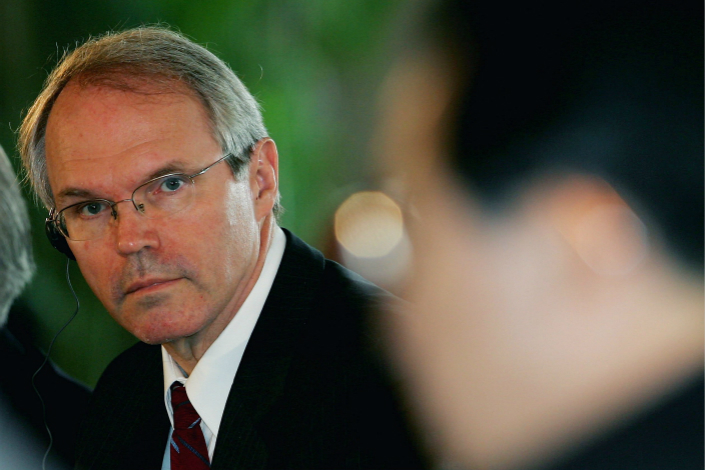 Christopher Hill, the then-U.S. assistant secretary of state for East Asian and Pacific affairs, attends the fourth round of Six-Party Talks in Beijing in July 2005. Photo: VCG