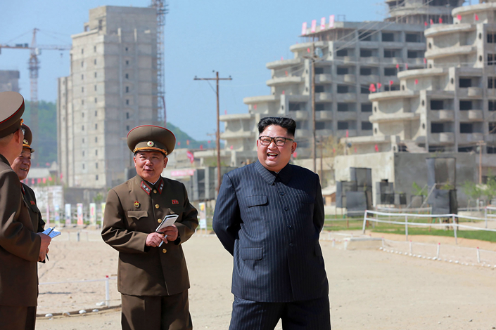 This undated picture was released by North Korea's official Korean Central News Agency (KCNA) on May 26.