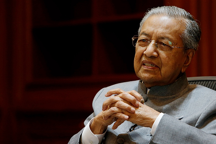 Malaysian Prime Minister Mahathir Mohamad speaks during an interview in Putrajaya, Malaysia, on June 19. Photo: VCG