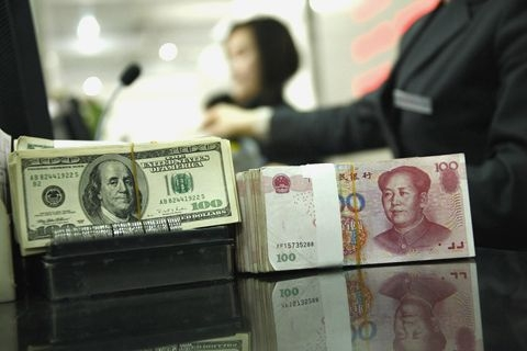 The yuan fell 2.54% against the dollar in May, the biggest monthly drop since August 2018. Photo: VCG