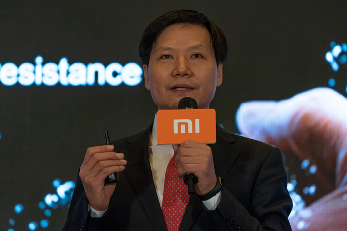 Lei Jun, chairman and CEO of Xiaomi Corp., speaks during a news conference in Hong Kong on Saturday. Photo: VCG
