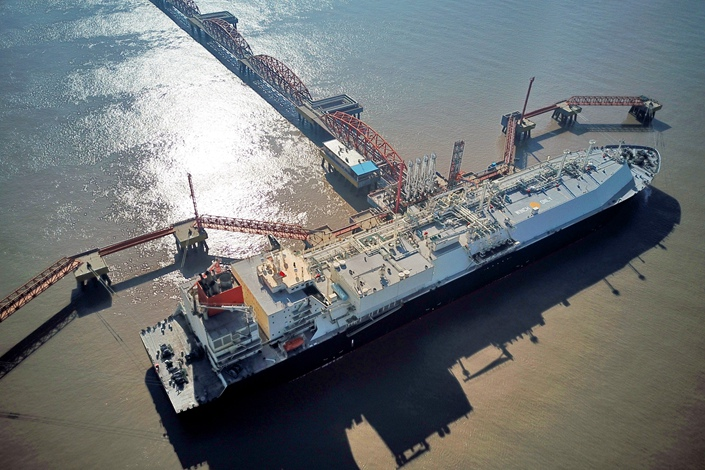 A liquefied natural gas carrier from Australia docks at the China National Petroleum Corp. terminal in Jiangsu province on Jan. 15. Photo: VCG