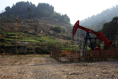 A CNPC shale gas well in Yibin, Sichuan Province. Photo: VCG