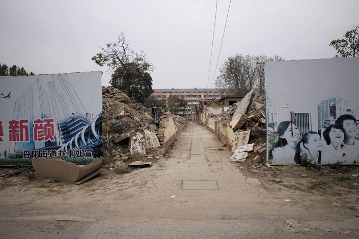 A shantytown redevelopment project in Heze, East China's Shandong province, on Nov. 1. Photo: VCG