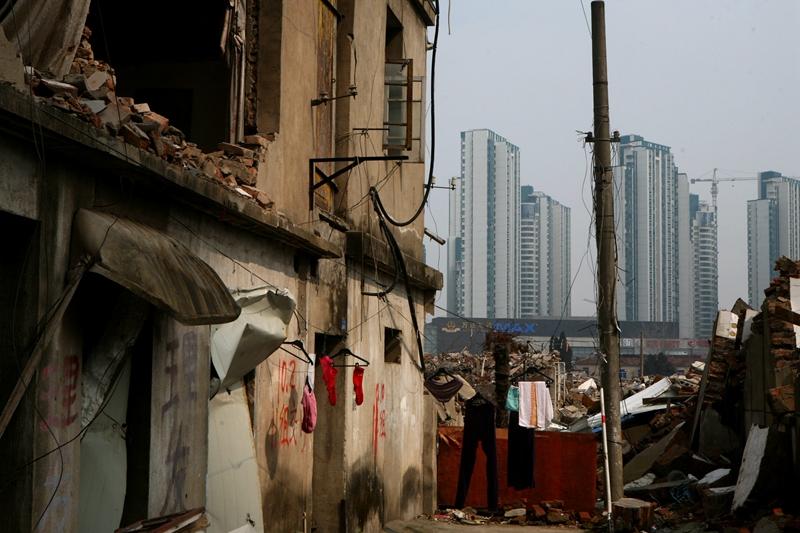 A shantytown undergoes redevelopment in Huai'an, Jiangsu province. Photo: VCG