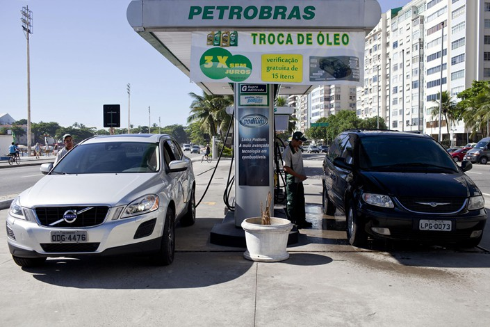 A Petrobas gasoline station is seen in Rio de Janeiro, Brazil, in January 2013. Photo: VCG