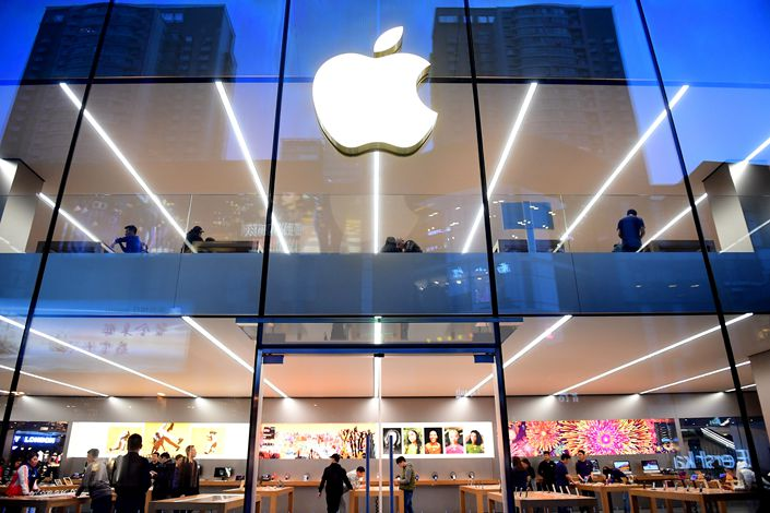 Apple Inc.'s store in Shenyang, Liaoning province, is seen on April 12. Photo: VCG