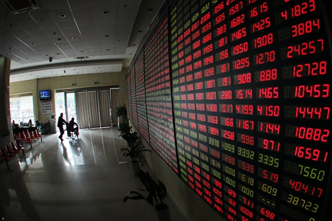 China's A-share market has slumped amid concerns over trade tension and a weakening yuan. Photo: VCG