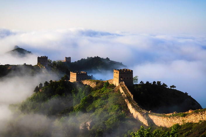 The Great Wall of China on May 15. Photo: VCG
