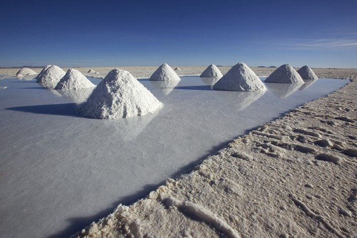 Lithium prices have dropped by 35% from the start of the year to 100,000 yuan per metric ton on Monday, according to industry data. Photo: VCG