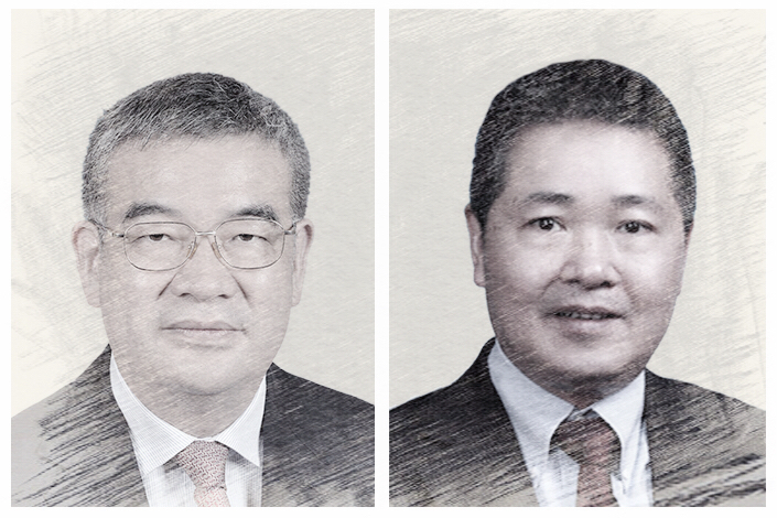 Zhu Hexin (left) and Liu Guoqiang are the two new deputy governors of the People's Bank of China. Photo illustration: Caixin; source: People's Bank of China